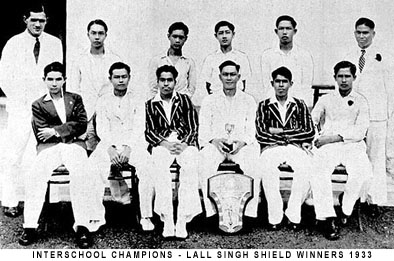 Lall Shield winners 1933