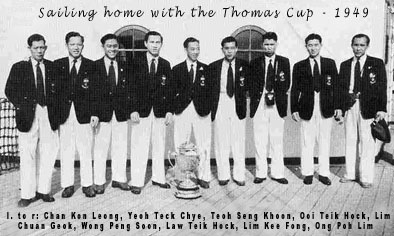 1949 Thomas Cup Winners