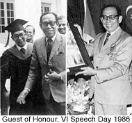 VI Speech Day 1986